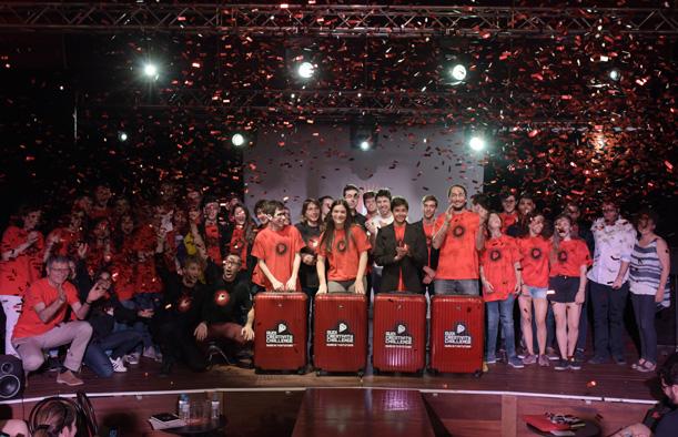El equipo de alumnos de la Escuela Pía Sarriá, ganadores del Audi Creativity Challenge
